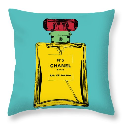 Bottle Throw Pillow featuring the photograph Chnel 2 by Mark Ashkenazi