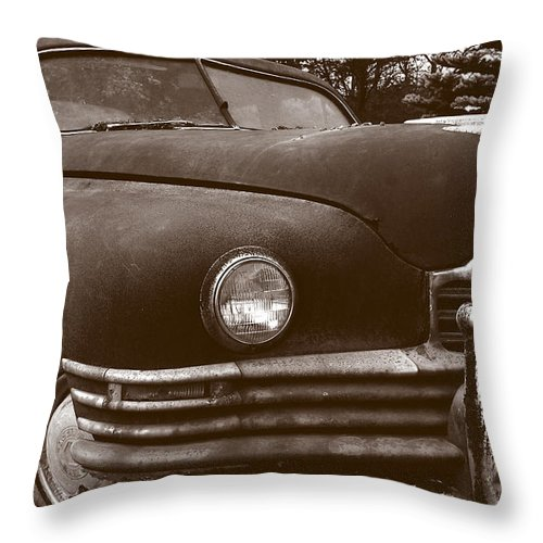 Old Car Throw Pillow featuring the photograph Chocolate Moose by Jean Macaluso