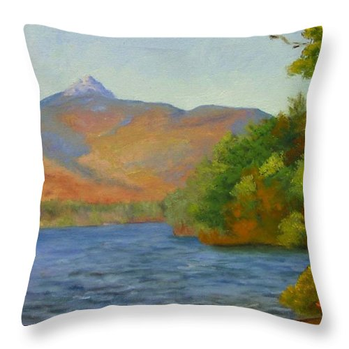 Mount Chocorua And Chocorua Lake Throw Pillow featuring the painting Chocorua by Sharon E Allen
