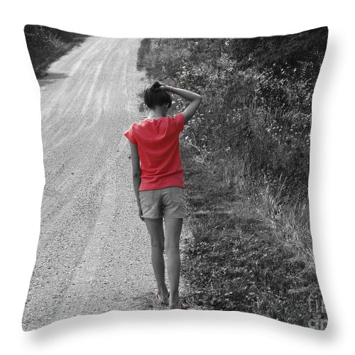 Road Throw Pillow featuring the photograph Choose Your Own Path by Cathy Beharriell
