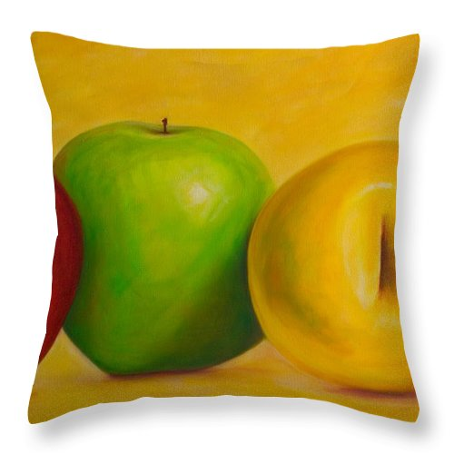 Still Life Throw Pillow featuring the painting Chorus Line by Shannon Grissom