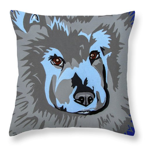 Chow Throw Pillow featuring the painting Chow Chow by Slade Roberts