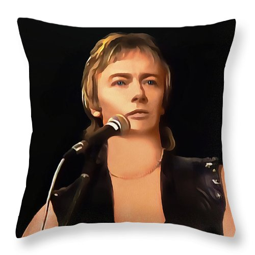 Young Chris Norman Throw Pillow For Sale By Sergey Lukashin
