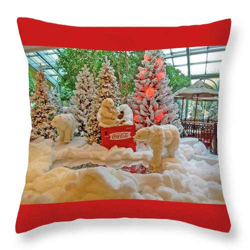 Photography Throw Pillow featuring the photograph Christmas Bears by Marian Bell