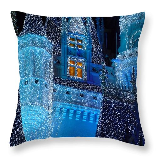 Cinderella Throw Pillow featuring the photograph Christmas Castle by Nora Martinez