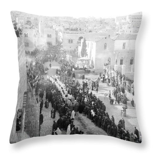 Christmas Throw Pillow featuring the photograph Christmas Celebration by Munir Alawi
