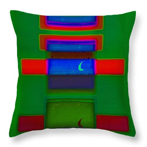 Rothko Throw Pillow featuring the painting Christmas by Charles Stuart