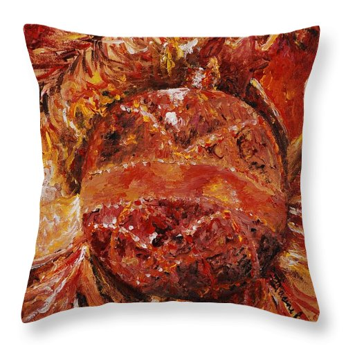Christmas Throw Pillow featuring the painting Christmas Glitter by Nadine Rippelmeyer