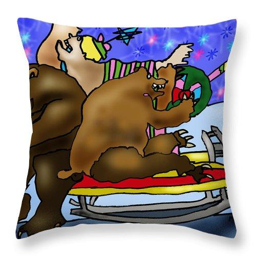 Christmans Throw Pillow featuring the digital art Christmas Joy by Angelina Marino