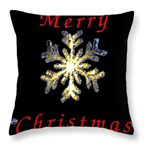 Snow Throw Pillow featuring the photograph Christmas Snowflakes by Tim Allen