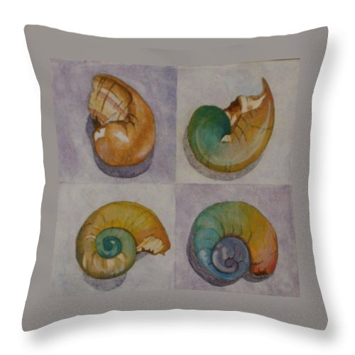 Nature Throw Pillow featuring the painting Chromasnail by Claudia Stewart