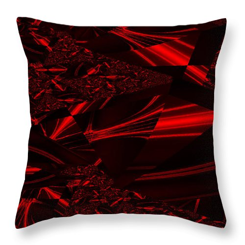 Clay Throw Pillow featuring the digital art Chrome In Red by Clayton Bruster