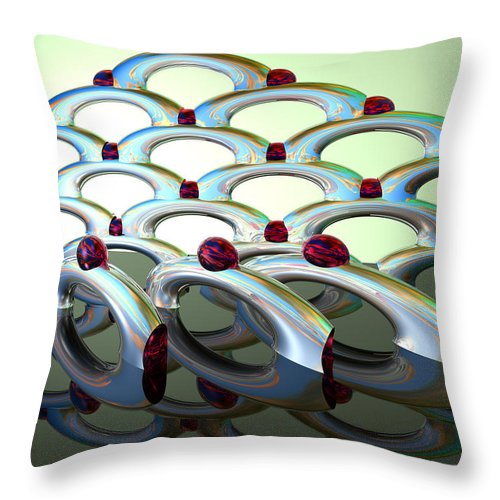 Scott Piers Throw Pillow featuring the painting Chrome Sundae by Scott Piers