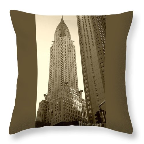 New York Throw Pillow featuring the photograph Chrysler Building by Debbi Granruth