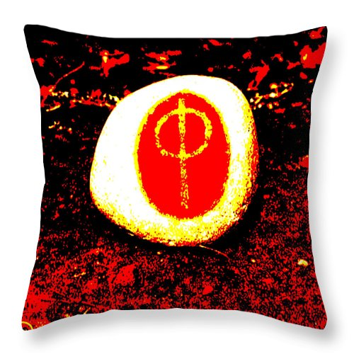 Square Throw Pillow featuring the digital art Chthonici Cosmica by Eikoni Images