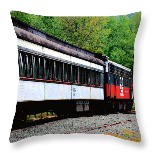 Train Throw Pillow featuring the photograph Chugging Along by RC DeWinter