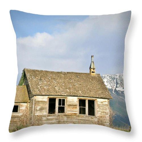 Church Throw Pillow featuring the photograph Church And School by Douglas Barnett