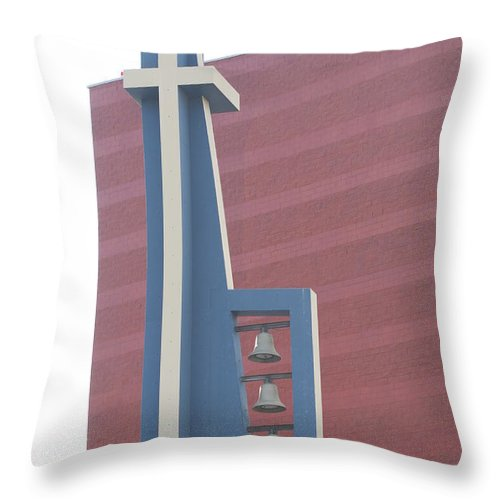 Bells Throw Pillow featuring the photograph Church Bells by Rob Hans