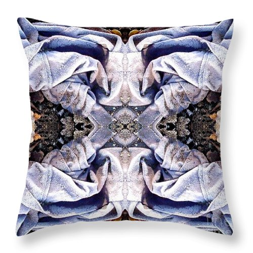 Abstract Throw Pillow featuring the digital art Church Clothing by Ron Bissett