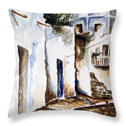 Church Dome Painting Throw Pillow featuring the painting Church Dome by Kandyce Waltensperger
