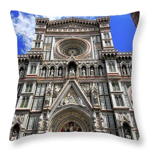 Church Of Santa Croce Throw Pillow featuring the photograph Church Of Santa Croce by Harry Spitz