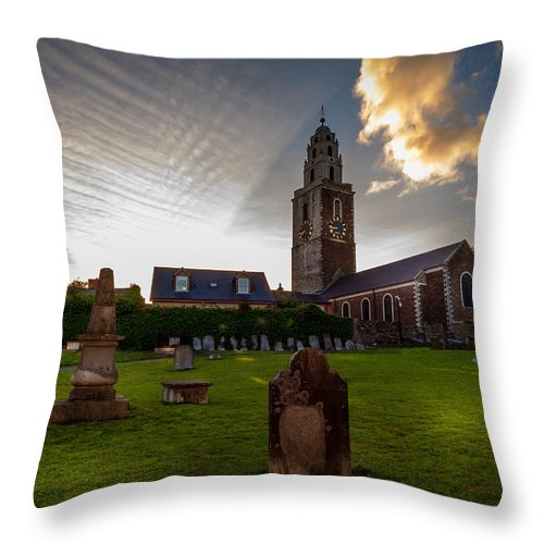 Fine Art Throw Pillow featuring the photograph Church Of St Anne by John Hurley