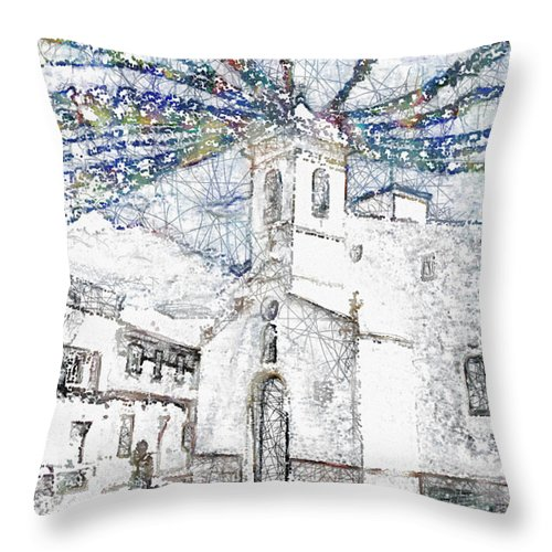 Ebsq Throw Pillow featuring the photograph Church Square by Dee Flouton