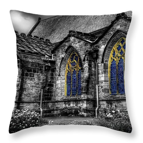 Door Throw Pillow featuring the photograph Church Windows by Svetlana Sewell