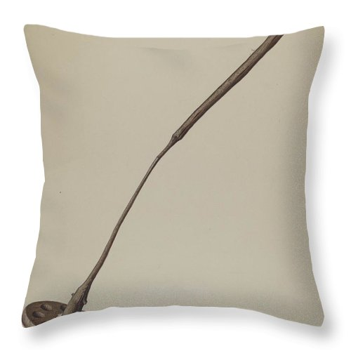 Throw Pillow featuring the drawing Churn by Aaron Fastovsky