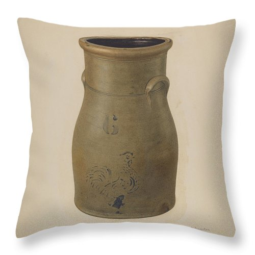 Throw Pillow featuring the drawing Churn by Nicholas Amantea