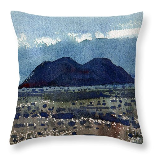 Cinder Cone Throw Pillow featuring the painting Cinder Cone Death Valley by Donald Maier