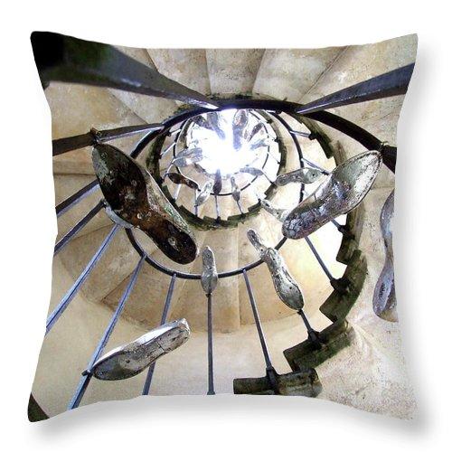Cinderella Silver Throw Pillow featuring the sculpture Cinderella Labirynth by Sylvie Art Riot