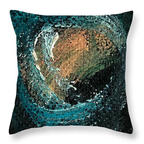 Circ Throw Pillow featuring the painting Visitors Eye by Jorge Delara