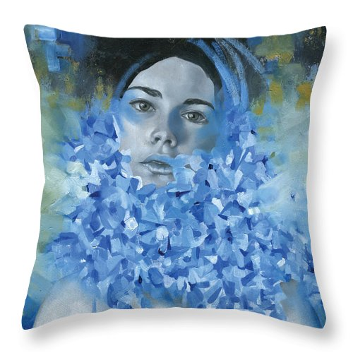 Figurative Throw Pillow featuring the painting Circe by Patricia Ariel