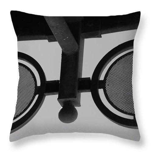 Black And White Throw Pillow featuring the photograph Circle Bar I by Rob Hans