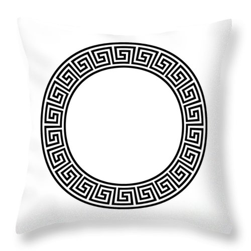 Circle Frame With Seamless Meander Pattern Throw Pillow For Sale By Peter Hermes Furian