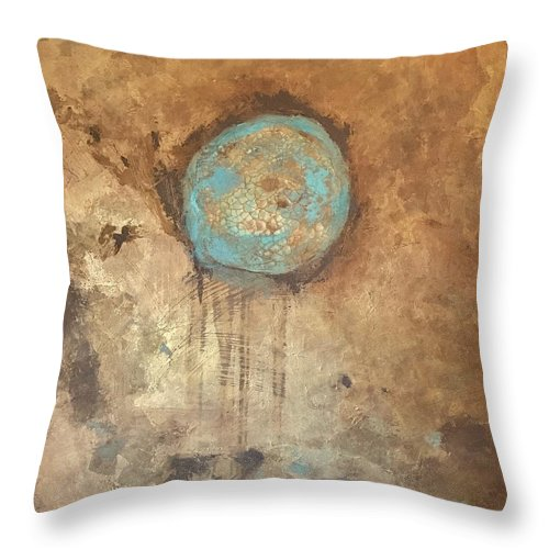 Metallics Throw Pillow featuring the painting Circle Of Friendship by Suzaine Smith