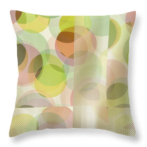 Abstract Throw Pillow featuring the digital art Circle Pattern Overlay II by Ruth Palmer