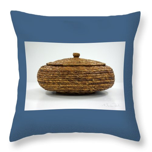 Banana Throw Pillow featuring the mixed media Circular Bound by Kerryn Madsen-Pietsch