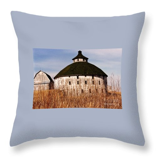 Barn Throw Pillow featuring the photograph Circular by Jeff Barrett