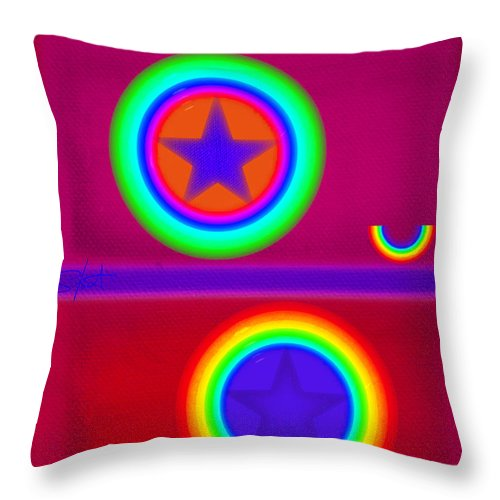 Balance Throw Pillow featuring the painting Circus Act by Charles Stuart