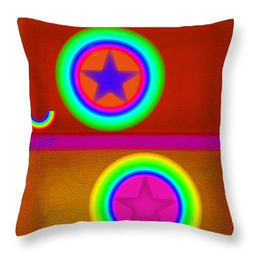 Balance Throw Pillow featuring the painting Circus Balls by Charles Stuart