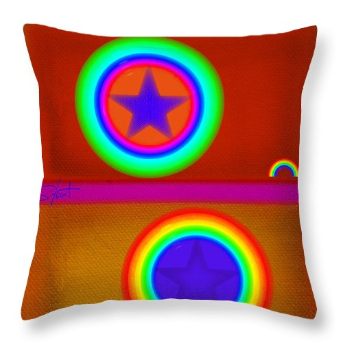 Balance Throw Pillow featuring the painting Circus by Charles Stuart