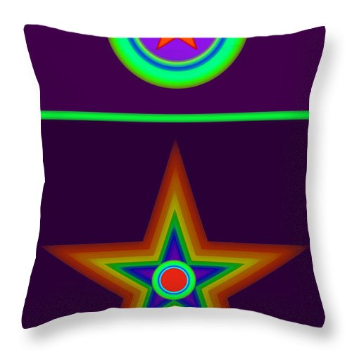 Circus Throw Pillow featuring the painting Circus Classique by Charles Stuart