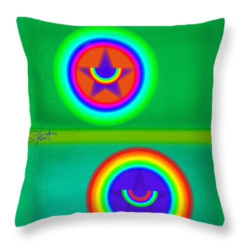 Balance Throw Pillow featuring the painting Circus Costume by Charles Stuart