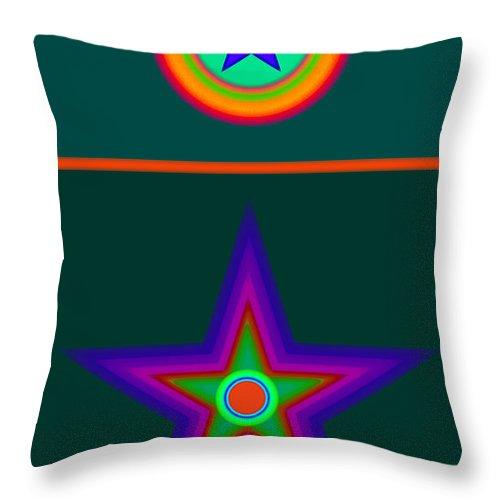 Circus Throw Pillow featuring the digital art Circus Vert by Charles Stuart