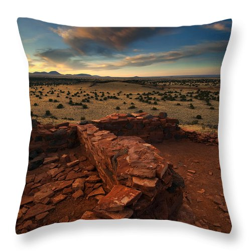 Citadel Throw Pillow featuring the photograph Citadel Walls by Mike Dawson