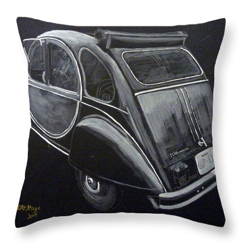 Citroen 2cv Charleston Throw Pillow featuring the painting Citroen 2cv Charleston by Richard Le Page