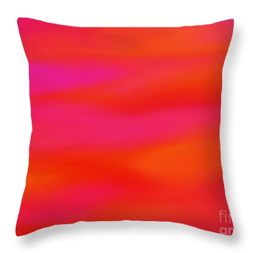 Orange Throw Pillow featuring the painting Citrus Skies by Roxy Riou