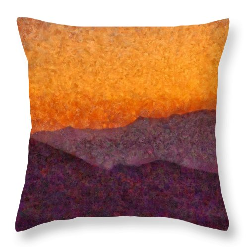 Savad Throw Pillow featuring the photograph City - Arizona - Rolling Hills by Mike Savad